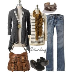 add some cowboy boots and throw away that necklace - ideal Fall outfit