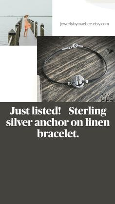 Weekend Wear, Necklaces, Bracelets, Anchor, Presents, Bling, Sterling Silver, Handmade Gifts, Gifts