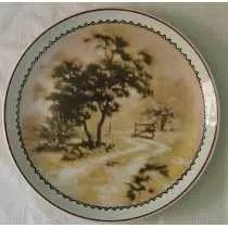 Prato Decorativo Porcelana Schmidt Paisagem