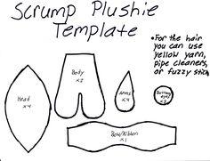 Scrump Plushie Template
