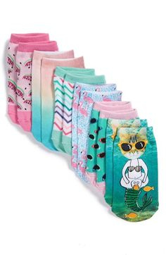 Tucker + Tate Sublimation Print Low Cut Socks (6-Pack) (Toddler, Little Kid & Big Kid) available at #Nordstrom