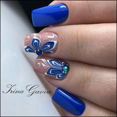 "See our internet site for even more info on ""acrylic nail art designs short"". It is actually an outstanding spot to find out more. Cute Nail Art, Beautiful Nail Art, Fabulous Nails, Perfect Nails, Pretty Nail Designs, Nail Art Designs, Hair And Nails, My Nails, Blue Nails"
