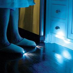 LED Light Slippers - so you don't have to turn the lights on to go to the bathroom in the middle of the night