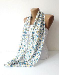 summer scarf . women infinity Scarf . circle scarf . fashion accessories . Loop Scarf . Cowl . Nomad Tube . spring . fall fashion via Etsy