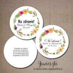 Zawieszki na alkohol ślubny Decorative Plates, Weddings, Home Decor, Alcohol, Decoration Home, Room Decor, Wedding, Home Interior Design, Marriage