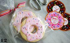 heart shaped bee cookie   donut party invite via nobiggie 2 donut pinata via studio diy 3 ...