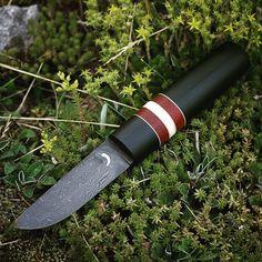Small damascus wanderer knife