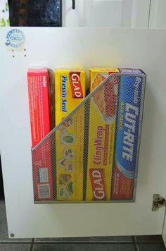 Magazine holder kitchen wrap holder