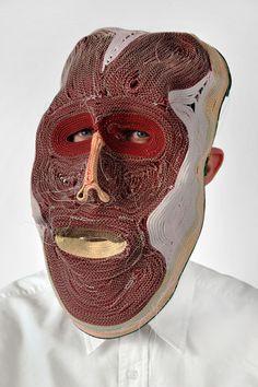 Masks made of rope by STUDIO BERTJAN POT