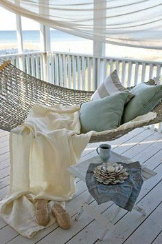 Relax in a hammock and watch the ocean ...