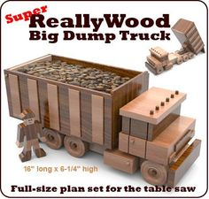 Wooden toy tractor plans free ~