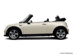 White mini-coop convertible. This is it, the one!