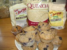 Quinoa Blueberry Lemon Coconut Walnut Chia Muffins - The Kitchen Table - The Eat-Clean Diet®