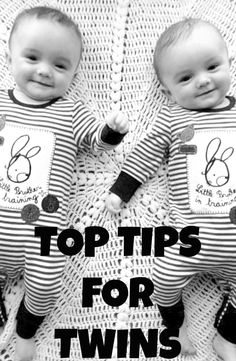 Top Tips For Twins -- from a twin mom. since trent is the next possible bearer of twins in his family... ;)