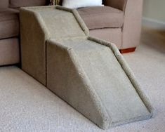 18-46cm-Handmade-Carpeted-Wood-Pet-Ramp-Steps-Stairs-for-Dogs-or-Cats