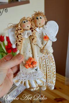 Oliwia Art Deko: marca 2015 Salt Dough Crafts, Salt Dough Ornaments, Clay Ornaments, Clay Crafts, Felt Crafts, Diy And Crafts, Fimo Clay, Ceramic Clay, Christmas Ornament Crafts