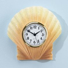 Shell Bathroom Clock