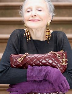 """12 Fashion Tips From the World's Chicest Grandmas : Lucky Magazine """"You know, for an older woman I don't go for style, I go after elegance. That's what I go for. It was always elegance."""""""