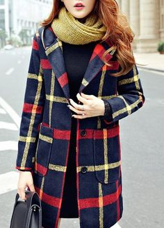 Single Breasted Plaid Pattern Hooded Coat on sale only US$36.81 now, buy cheap Single Breasted Plaid Pattern Hooded Coat at lulugal.com