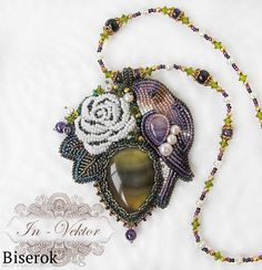 Кулон с птицей / Вышивка бисером, Кулоны и подвески / Biserok.org