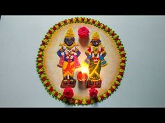 Easy Rangoli Designs Diwali, Indian Rangoli Designs, Free Hand Rangoli Design, Rangoli Border Designs, Colorful Rangoli Designs, Beautiful Rangoli Designs, Kolam Designs, Simple Rangoli, Diy Birthday