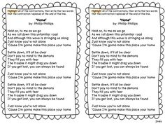"""Using Phillip Phillip's song """"Home"""" to teach contractions!"""