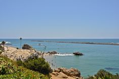Great view of the Newport Harbor opening and the little beach in Corona del Mar