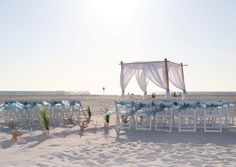 Florida beach weddings by Suncoast Weddings on the fine sandy shores