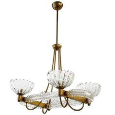 "Italian Murano ""Fungo"" Glass Pendants by Barovier e Toso For Sale at 1stdibs"