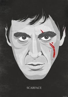 Inspired by the movie SCARFACE with Al Pacino . I print my art on a high quality semi matte paper The print is available in 4 sizes: - x cm). - 16 X 12 x 30 cm) - x x cm) - x ( cm ) Plus a small white Scarface Poster, Scarface Movie, Movie Poster Art, Poster On, Martin Scorsese, Alfred Hitchcock, Renoir, Scared Face, White Art