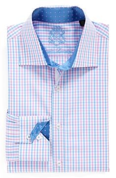 English Laundry Trim Fit Gingham Dress Shirt available at #Nordstrom