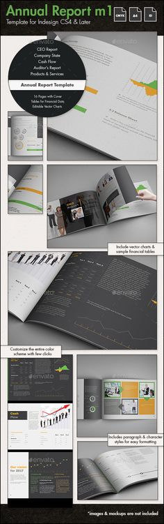 Annual Report Template m1 - A4 Landscape InDesign INDD #design Download: http://graphicriver.net/item/annual-report-template-m1-a4-landscape/14379095?ref=ksioks