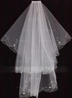 Wedding Veils - $16.99 - Two-tier Fingertip Bridal Veils With Finished Edge (006035469) http://jjshouse.com/Two-Tier-Fingertip-Bridal-Veils-With-Finished-Edge-006035469-g35469?pos=related_products_3?snsref=pt&utm_content=pt