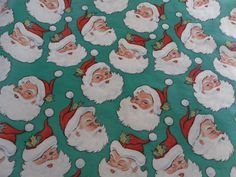 "Vtg Christmas Wrapping Gift Wrap Paper 3 Pc Different Size/Design 24x72"" 54"" 47"" 