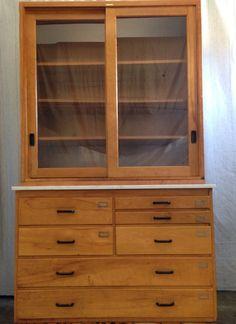 Vintage Science Cabinet by 3vintage on Etsy