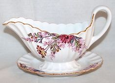 Spode China ~ Chelsea Garden ~ Gravy Bowl Attached Underplate ~ Perfect!
