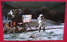 Apollo 16 Astronaut John Young Moon Lunar Rover Vintage