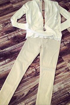 #new #arrivals #spring #fashion #khaki #denim #pretty #white #longsleeve #top #beaded #necklace #fun #fashion #shop #societyfemme