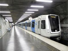 Bombardier C30 Metro Train on Stockholm Metro