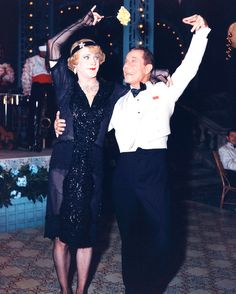 Jack Lemmon and Joe E. Brown on the set of Some Like It Hot, released 1959.