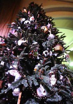 black christmas tree decoration