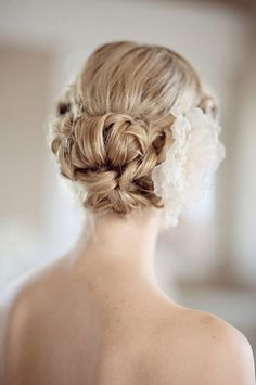 Pretty Updo + Flower