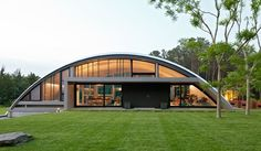quonset hut plans | ... not Hutton's) with a Quonset hut wing in the Hamptons, the Arc House