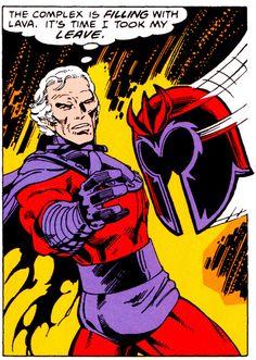 "jthenr-comics-vault: "" Magneto, badass Uncanny X-Men (September Art by John Byrne & Terry Austin Words by Chris CLaremont "" Comic Book Superheroes, Marvel Comic Books, Comic Books Art, Comic Book Artists, Comic Artist, X Men, Polaris Marvel, Walt Disney, Hq Marvel"