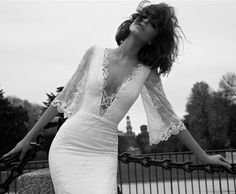 A little too sexy for a church wedding but a small intimate gathering could work. Liz Martinez Bridal Collection - Milan 2015 - Belle The Magazine