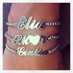 Richiedi il tuo bracciale nome personalizzato❤completamente in argento 925❤