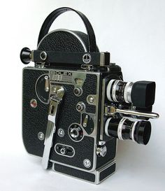The Bolex camera I get to use for my beginning filmmaking class :) pretty retro!