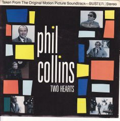 """Phil Collins Two Hearts / Robbery Anne Dudley / 7"""" 45 RPM Vinyl Jukebox Record & Picture Sleeve #PhilCollins #Pop"""