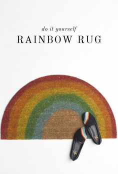 rainbow rug tutorial