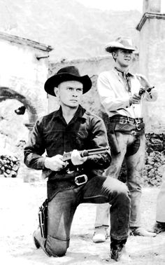 Yul Brynner & Steve McQueen ~ The Magnificent Seven, 1960